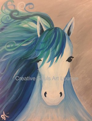 Creative Souls Art Lounge Blue Beauty painting