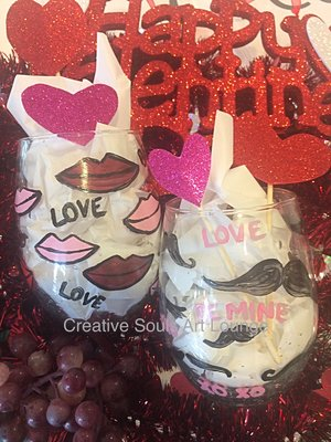 Creative Souls Art Lounge: DIY Wine Glasses