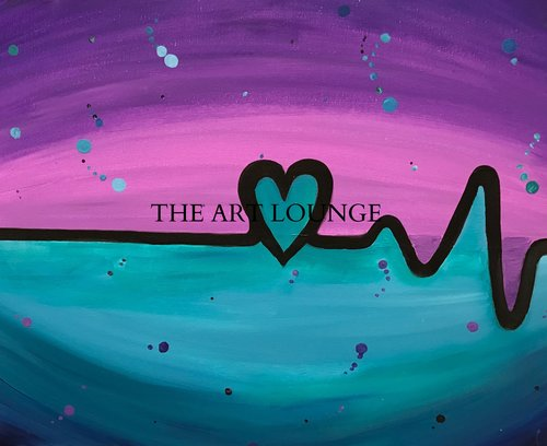 Creative Souls Art Lounge Heartbeat painting