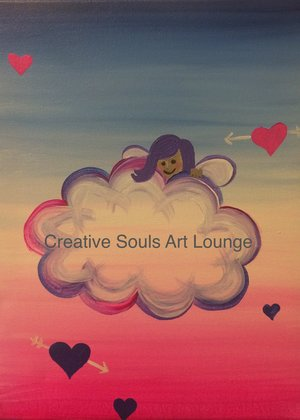 Creative Sol Arts Lounge Kids Cupid painting