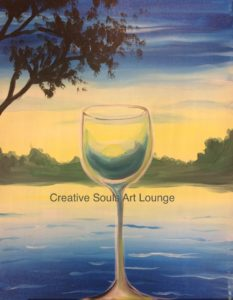 Creative Souls Art Lounge Ladies Night: Through The Glass painting