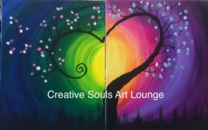 Creative Souls Art Lounge Love Tree painting