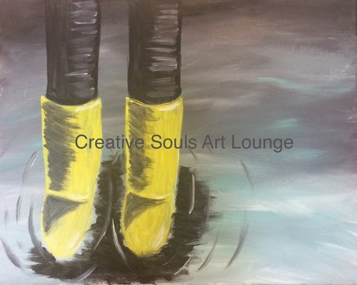 Creative Souls Art Lounge Puddle Jumping painting