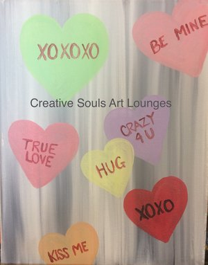 Creative Souls Art Lounge Sweethearts painting