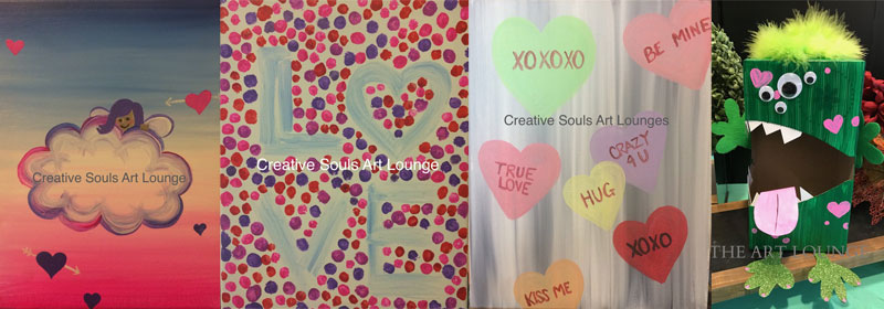 Creative Souls Art Lounge Valentine's Day Art